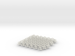 2D Chain Mail, 1cm deep in White Strong & Flexible