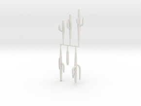 Z Scale Saguaro Collection 02 in White Strong & Flexible