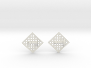 Chess Earrings - Bishop in White Strong & Flexible