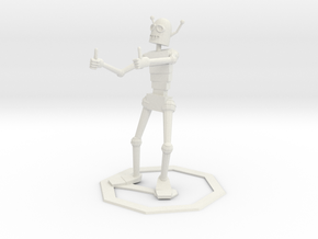 Encouraging Robot in White Strong & Flexible