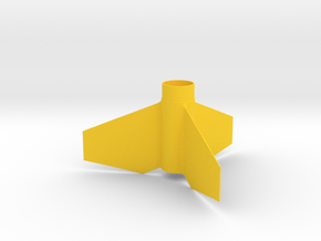 Viper Fin Unit BT30 for 13mm motors in Yellow Strong & Flexible Polished