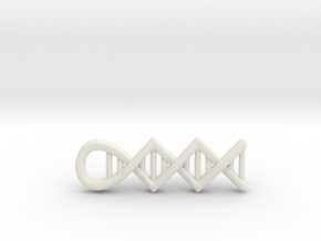 DNA pendant in White Strong & Flexible