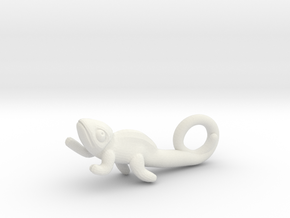 Chameleon Pendant in White Strong & Flexible