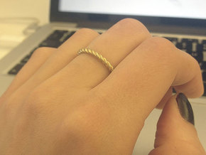 Ring Twisted US Size 7, 17.3 Mm in Raw Brass