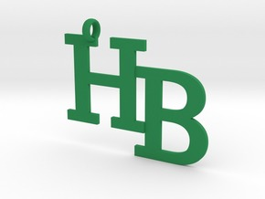 HB charm - Go Bobcats! in Green Strong & Flexible Polished