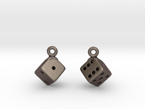 D6 Earrings in Stainless Steel