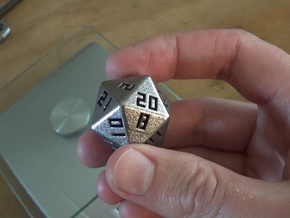 Hollow D20 v1 in Stainless Steel