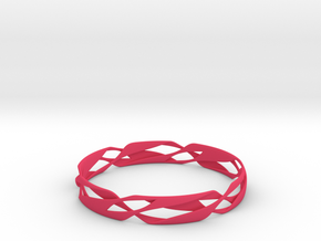 Stripes Bangle 2 in Pink Strong & Flexible Polished