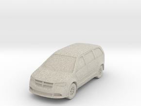 "Minivan at 1""=10' Scale in Sandstone"