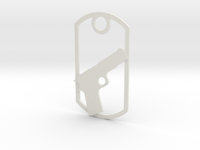1911 dog tag in White Strong & Flexible