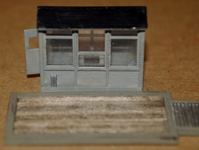 N-Scale Grain Scale & Shack in Frosted Ultra Detail