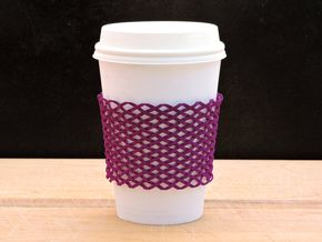 Coffee sleeve / bracelet in Purple Strong & Flexible Polished