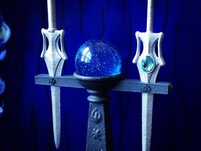 Orb Sword Holder  in White Strong & Flexible Polished