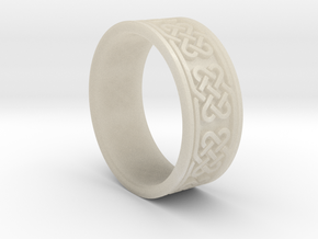 Celtic Ring in White Acrylic