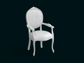 1:10 Scale Model - ArmChair 07 in White Strong & Flexible