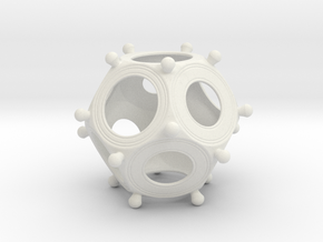 Roman Dodecahedron Small in White Strong & Flexible
