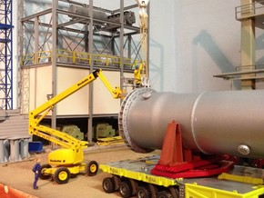 Refinery column support 62mm diameter in White Strong & Flexible