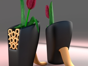 Vase Design 1 in Black Strong & Flexible