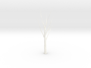 Tree Faceted - Meshmixed - Repaired in White Strong & Flexible Polished