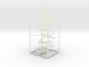 Super Tiny RBS Marble Run Rolling Ball Sculpture in Frosted Ultra Detail