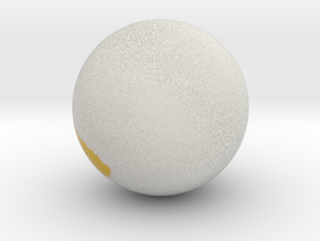 Sphere.obj in Full Color Sandstone