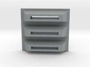 Coin Slots in Polished Metallic Plastic