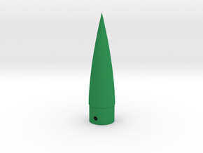 Classic estes-style nose cone BNC-20AZ (pointed) in Green Strong & Flexible Polished