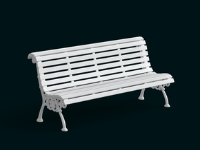 1:10 Scale Model - Bench 02 in White Strong & Flexible
