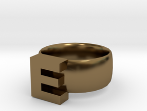 E Ring in Polished Bronze