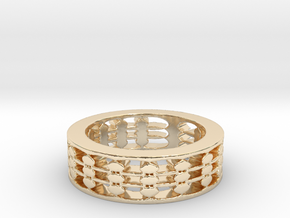 Circles Distorted (Size 6) in 14K Gold