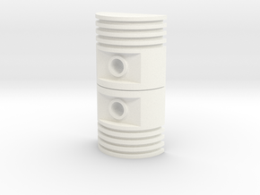 Ribbed Greebly in White Strong & Flexible Polished