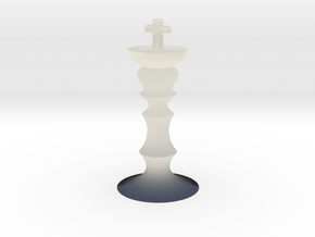 Tiny chess king in Transparent Acrylic
