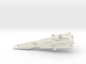 Asp Class Imperial Patrol Corvette in White Strong & Flexible