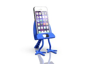 Cradle for iPhone 5 in Blue Strong & Flexible Polished