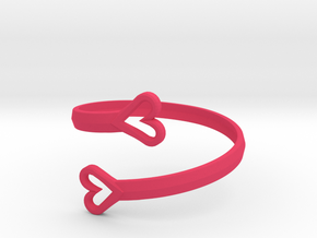 FLYHIGH: Open Hearts Bracelet in Pink Strong & Flexible Polished