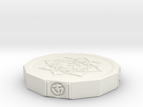 Aum Coin in White Strong & Flexible