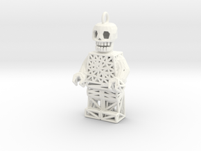 Los Muertos Lego Man Key Chain in White Strong & Flexible Polished