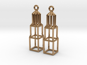 Metal Dom Earrings (Small) in Polished Brass