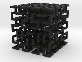 Hilbert Curve in Black Strong & Flexible