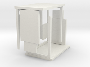 1:76th bus shelter 3 (2 pack) in White Strong & Flexible
