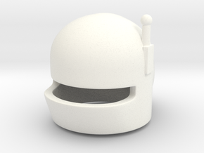SciFi Helmet G (tbn) in White Strong & Flexible Polished