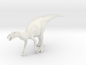 Dinosaur Brachylophosaurus Large HOLLOW in White Strong & Flexible