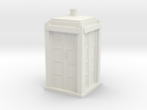 Tardis mini in White Strong & Flexible