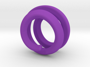 sphere spiral filler 16mm in Purple Strong & Flexible Polished