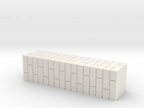7mm Scale Double Brick Pier in White Strong & Flexible