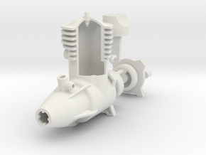 2 Cycle R/C Aircraft Engine in White Strong & Flexible