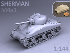 1/144 - SHERMAN M4A1 TANK in Frosted Ultra Detail