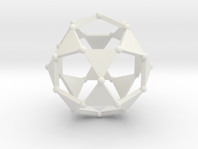 Icosidodecahedron in White Strong & Flexible