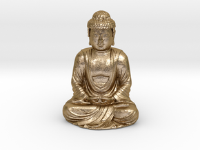 Buddha  in Polished Gold Steel
