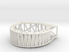 Structural Chipped Block Ring in White Strong & Flexible